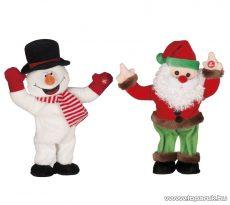 ARTI CASA EDC 9234/HM Karácsonyi éneklő, táncoló hóember és Mikulás figurák, 2 db / csomag