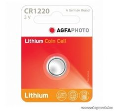 AgfaPhoto CR1220 gombelem, 3V, lítium, 1 db