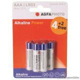 AgfaPhoto AF LR03/6 Alkáli elem, mini ceruza (AAA) méret, 1,5 V, 6 db / csomag