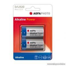 AgfaPhoto AF LR20 D elem, alkáli, 2 db / csomag