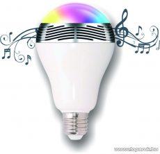 SAL BL 05 Multifunkciós LED fényforrás (zenélő okoségő), diszkólámpa funkcióval, 7 in 1, fehér + 7 szín, E27, 6W fényforrás, 3W hangszóró teljesítmény