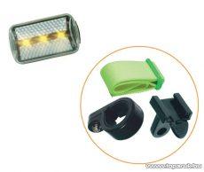Bicikli lámpa 3 db fehér LED-es (1-011)