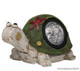 HOME EDC 6569 Napelemes kerti lámpa, világító szolár figura, 16 x 10 x 10,5 cm, csiga / teknős