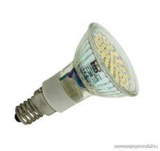 GAO 7036H LED fényforrás előtétüveggel, spot, 60 SMD LED / 3 W / 220 lm / 3000 K, E14 - megszűnt termék: 2015. május