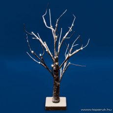 HOME KAD 13 Beltéri LED-es asztali fa dekoráció, 24 db melegfehér fényű leddel