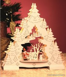 HOME KAD 25 LED-es elemes asztali dísz, karácsonyfa dekoráció, 25,5 cm