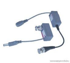 HOME AV-568B UTP-BNC átalakító videójelhez + táphoz, CAT 5 típusú kábelhez