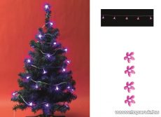 HOME CBC 20/P Beltéri LED-es cseresznyevirág fényfüzér, lila világítással - készlethiány