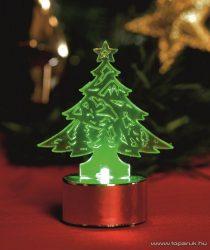 HOME CDM 1/P Beltéri 1 db zöld LED-es világító mécses dekoráció, fenyőfa
