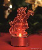 HOME CDM 1/S Beltéri 1 db piros LED-es világító mécses dekoráció, Mikulás