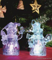 HOME CDM 2/T Beltéri 1 db színváltó LED-es mécses dekoráció (átlátszó alapanyagú műanyag hóember) szett