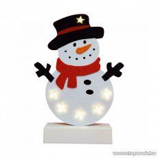 HOME CDM 61 Beltéri LED-es világító asztali dísz dekoráció, 6 db meleg fehér színű leddel, hóember