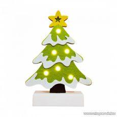HOME CDM 64 Beltéri LED-es világító asztali dísz dekoráció, 6 db meleg fehér színű leddel, fenyőfa