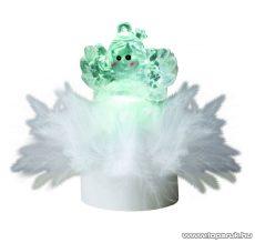 HOME 1 db színváltó LED-es beltéri mécses dekoráció, angyal
