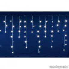 HOME DLFJ 200/WH Kültéri toldható állófényű 200 LED-es party jégcsap füzér, fényfüggöny, hideg fehér világítással, 5 m hosszú