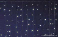 HOME DLF 400/WW Kültéri toldható állófényű 400 LED-es party fényfüggöny, meleg fehér világítással, 200 x 200 cm