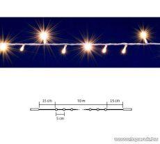 HOME DLI 200/WW Kültéri toldható állófényű 200 LED-es party fényfüzér, meleg fehér világítással, 10 m hosszú