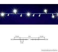 HOME DLI 40/WH Kültéri toldható állófényű 40 LED-es party fényfüzér, hideg fehér világítással, 2 m hosszú
