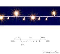 HOME DLI 40/WW Kültéri toldható állófényű 40 LED-es party fényfüzér, meleg fehér világítással, 2 m hosszú