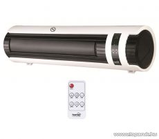 HOME FKF 2000C LCD Fali ventilátoros fűtőtest LCD kijelzővel, fehér-fekete, 2000 W