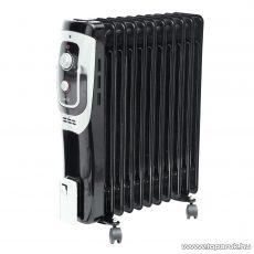 HOME FKO 11/BK Olajradiátor, termosztát szabályozással, 11 tag, fekete, 2500 W