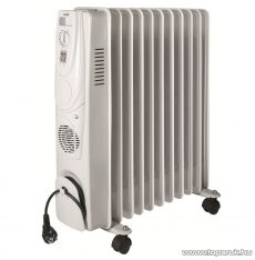 HOME FKO 11/T Olajradiátor beépített ventilátoros fűtőtesttel, 11 tag, 2400 W