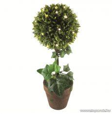 HOME GPL 25 Beltéri 25 LED-es, elemes valósághű buxus növény, meleg fehér világítással