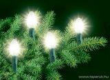 HOME G 1028-50 Kristály izzós fényfüzér, fehér