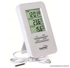 HOME HC 12 Vezetékes külső, belső hőmérő, órával