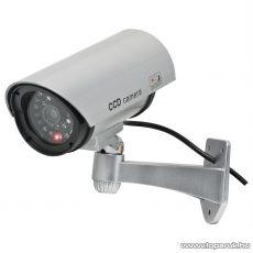 HOME HSK 110 Kültéri biztonsági álkamera, fém hatású, 2 x AA