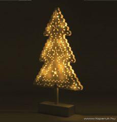 HOME KAD 19 PINE Beltéri 20 LED-es, elemes karácsonyfa asztaldísz, meleg fehér világítással