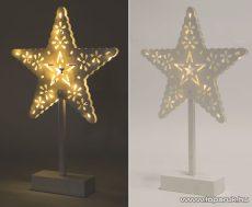 HOME KAD 20 STAR Beltéri 20 LED-es, elemes csillag asztaldísz, meleg fehér világítással