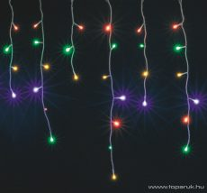 HOME KAF 200L 10M/M Kültéri LED-es fényfüggöny, 200 db színes LED-del, 8 programos, memóriás, 1000 cm széles