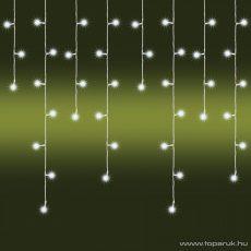 HOME KAF 200L Kültéri LED-es fényfüggöny, 200 db hideg fehér színű LED-del, 8 programos, memóriás, 470 cm széles