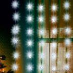 HOME KAF 48L Csillag díszes fényfüggöny, 150 x 100 cm, 48 db hideg fehér leddel