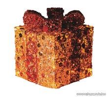 HOME KBX 15/G Világító doboz, piros-arany, 15 cm