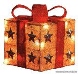 HOME KBX 15/RD Világító doboz, piros-arany, 15 cm