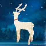 HOME KDA 5/WW Kültéri LED-es akril nagy rénszarvas dekoráció, 240 db meleg fehér fénnyel világító leddel