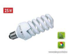 HOME KFS 25/27M Kompakt fénycső, spirál, 25 W, E 27, 2700 K (meleg fehér)