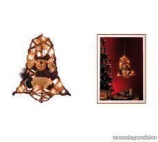 HOME KID 131/R Rattan világító dekoráció, harang forma, szarvas figurával