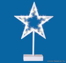 HOME KAD 15 Beltéri LED-es asztali dísz, csillag dekoráció, melegfehér