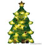 HOME KID 202 Fenyőfa ablakdísz, színes sziluett, 20 db meleg fehér fényű hagyományos izzóval