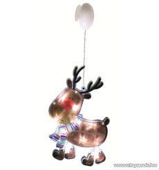 HOME KID 311 LED-es ablakdísz, rénszarvas, 10 db hideg fehér fényű leddel