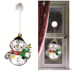 HOME KID 302 LED-es ablakdísz, hóember - készlethiány