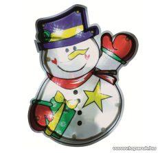 HOME KID 312 Beltéri LED-es ablakdísz, hóember dekoráció, 10 db hideg fehér fényű leddel