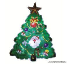 HOME KID 314 Beltéri LED-es ablakdísz, karácsonyfa dekoráció, 10 db hideg fehér fényű leddel