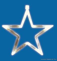 HOME KID 411 Beltéri LED-es ablakdísz, csillag dekoráció, 8 db meleg fehér fényű leddel