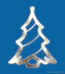 HOME KID 412 Beltéri LED-es ablakdísz, karácsonyfa dekoráció, 8 db meleg fehér fényű leddel
