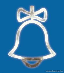 HOME KID 415 Beltéri LED-es ablakdísz, harang dekoráció, 8 db meleg fehér fényű leddel