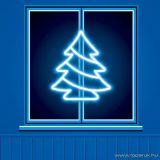 HOME KID 502 Fenyőfa ablakdísz, 35 db megel fehér fényű hagyományos izzóval